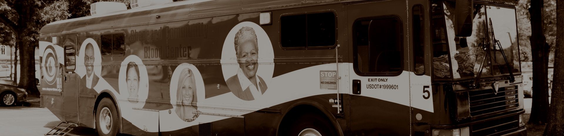 Banner - bus sepia | Shepeard Blood